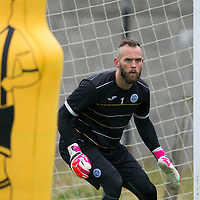 St Johnstone Training…22.07.16<br />Keeper Alan Mannus pictured during training this morning at McDiarmid Park ahead of tomorrows Betfred Cup game against Falkirk.<br />Picture by Graeme Hart.<br />Copyright Perthshire Picture Agency<br />Tel: 01738 623350  Mobile: 07990 594431