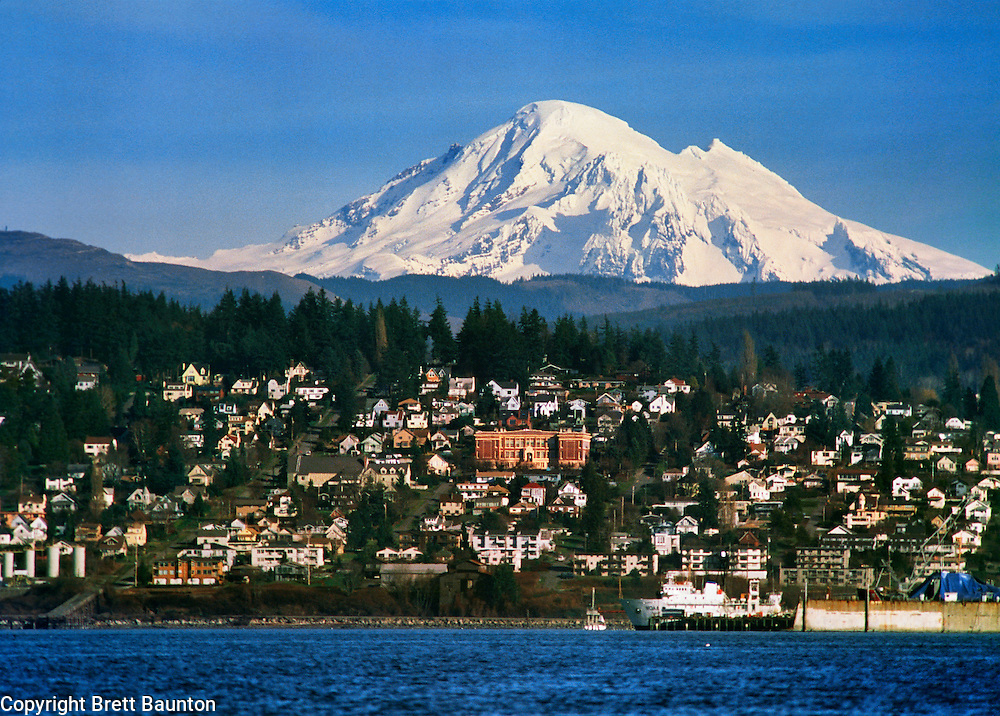 Mt. Baker, Bellingham Bay, Fairhaven, Washington State