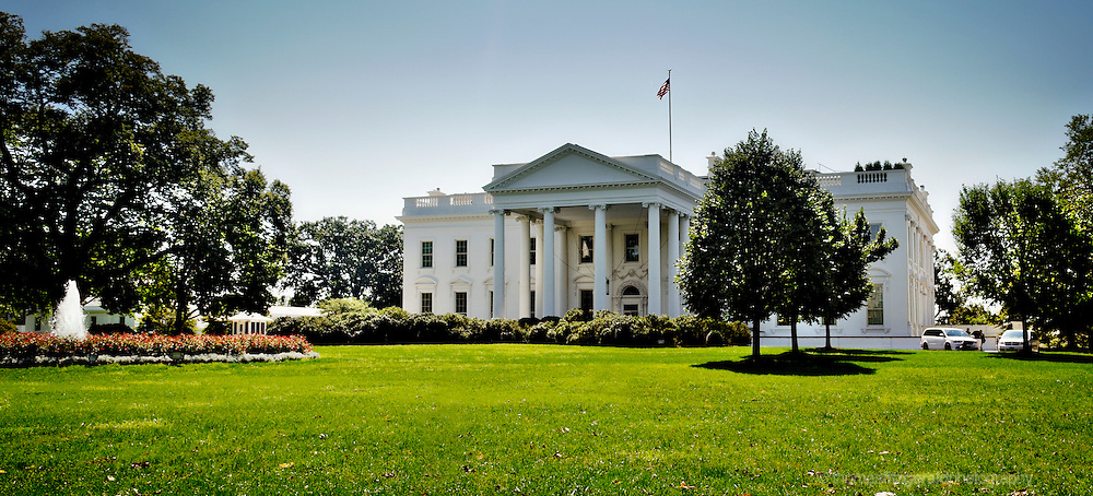 A View of the North Lawn of the Whitehouse