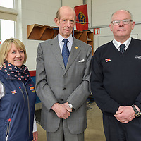 "The Duke of Kent with Tricia Tyson and John O'Gorman, Lifeboat Operations Manager Kinsale RNLI.<br /> Picture. John Allen<br /> <br /> Volunteer crew members of Kinsale RNLI  gave a warm welcome the His Royal Highness the Duke of Kent who made his first visit to the busy West Cork lifeboat station today (Wednesday 31 May).  The Duke has been Patron and President  of the RNLI,  the charity that saves lives at sea, since 1969.   He spent almost an hour meeting volunteers and hearing details of successful rescues by the Kinsale volunteers, including the Sean Anthony in April 2016 when three Portuguese fishermen were saved from a sinking trawler, and the evacuation of 30 people from the sailing vessel Astrid that foundered outside Kinsale Harbour in July 2013.  The Duke was introduced to Christopher Keane Hopcraft, one of the young people rescued from the Astrid, and Mrs Janet Rutherford who received medical attention and was brought to safety after she was injured on board a yacht.  Members of the local community were also invited to meet the Duke, including representatives of Kinsale's fishing fleet, along with RNLI volunteers from West Cork's newest station in Union Hall and representatives of the GAA, partners in the RNLI Respect the Water campaign that aims to halve the number of coastal deaths by 2024.<br /> <br /> The Duke said:<br /> <br /> Kinsale RNLI Lifeboat Operations Manager, John O'Gorman, said:  ""It was a honour and a privilege for us to meet the Duke who has provided unwavering support to the RNLI for almost half a century.  Our station on the Wild Atlantic Way is a long way from the RNLI HQ in Poole so we rarely get the opportunity to meet someone so close to the heart of the charity.  In that time he has visited the vast majority of lifeboat stations and we are delighted he chose to add Kinsale to that list.  He showed a great knowledge and understanding of our lifesaving work and <br /> sometimes being so on the coalface"