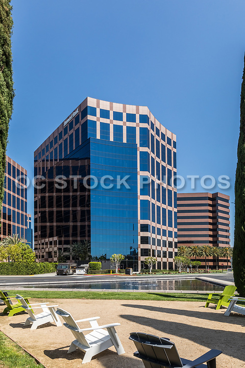 Glass Business Buildings At Irvine Business Complex
