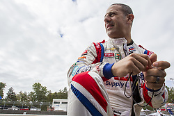 September 1, 2018 - Portland, Oregon, United Stated - TONY KANAAN (14) of Brazil hangs out on pit road prior to practice for the Portland International Raceway at Portland International Raceway in Portland, Oregon. (Credit Image: © Justin R. Noe Asp Inc/ASP via ZUMA Wire)