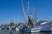 Shrimp Boats<br /> Near St Simon's Island, Barrier Islands, Georgia<br /> USA