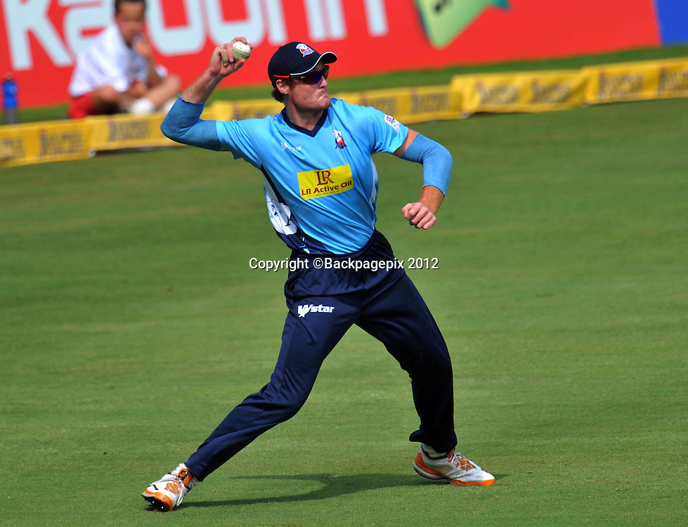 Martin Guptill of Auckland Aces during the 2012 Champions League Twenty20 cricket match between the Perth Scorchers and the Auckland Aces at Supersport Park in Centurion, South Africa on 23 October 2012 ©Chris Ricco/BackpagePix