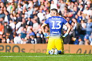 Leeds United goalkeeper Francisco Casilla (13) reacts during the EFL Sky Bet Championship match between Leeds United and Swansea City at Elland Road, Leeds, England on 31 August 2019.