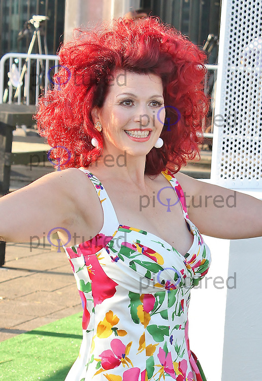 LONDON - August 21: Cleo Rocos at the Channel 5 Dallas Launch Party (Photo by Brett D. Cove)