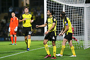 Burton Albion defender Ryan Edwards (4) scores a goal and celebrates 3-0 during the EFL Cup match between Burton Albion and Morecambe at the Pirelli Stadium, Burton upon Trent, England on 27 August 2019.