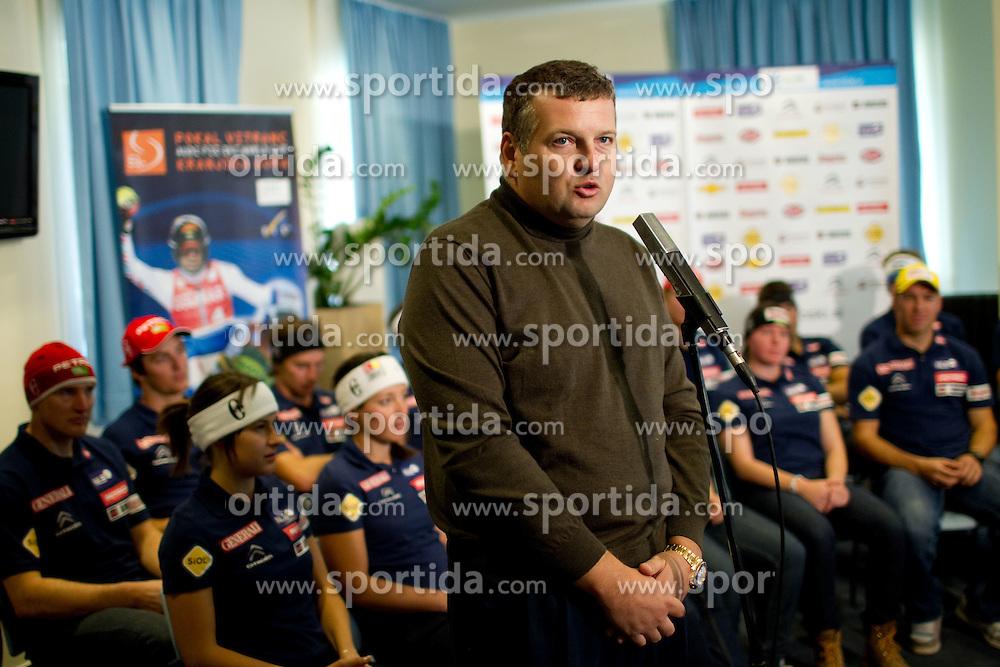 Tomaz Lovse, president of SZS during media day of Slovenian Alpine Ski team on October 17, 2011, in Rudno polje, Pokljuka, Slovenia. (Photo by Vid Ponikvar / Sportida)