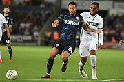 Leeds United midfielder Lewis Baker (34) during the EFL Sky Bet Championship match between Swansea City and Leeds United at the Liberty Stadium, Swansea, Wales on 21 August 2018.
