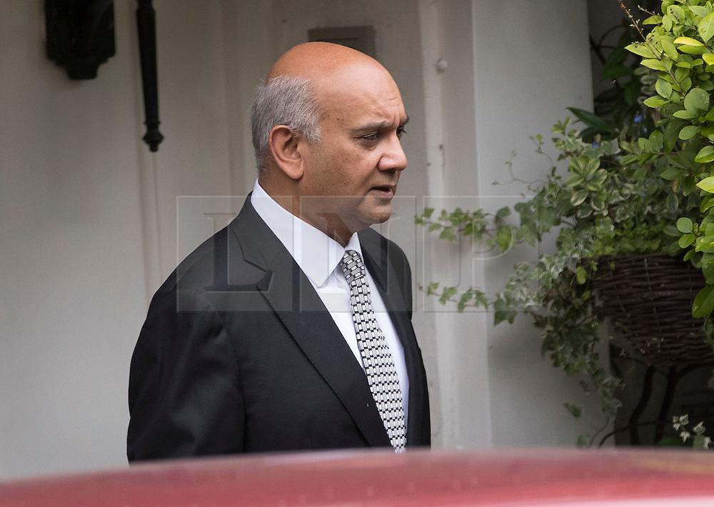© Licensed to London News Pictures. 04509/2016. London, UK. Keith Vaz MP leaves  his north London home.  A Sunday newspaper has printed allegations that Mr Vaz met with male prostitutes at his flat.  He has stood down from the chairmanship of the Home Affairs Select Committee. Photo credit: Peter Macdiarmid/LNP