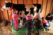 Children learn about farming and agriculture.