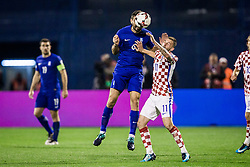 Marcelo Brozovic of Croatia and Alexandros Tziolis of Greece during the football match between National teams of Croatia and Greece in First leg of Playoff Round of European Qualifiers for the FIFA World Cup Russia 2018, on November 9, 2017 in Stadion Maksimir, Zagreb, Croatia. Photo by Ziga Zupan / Sportida