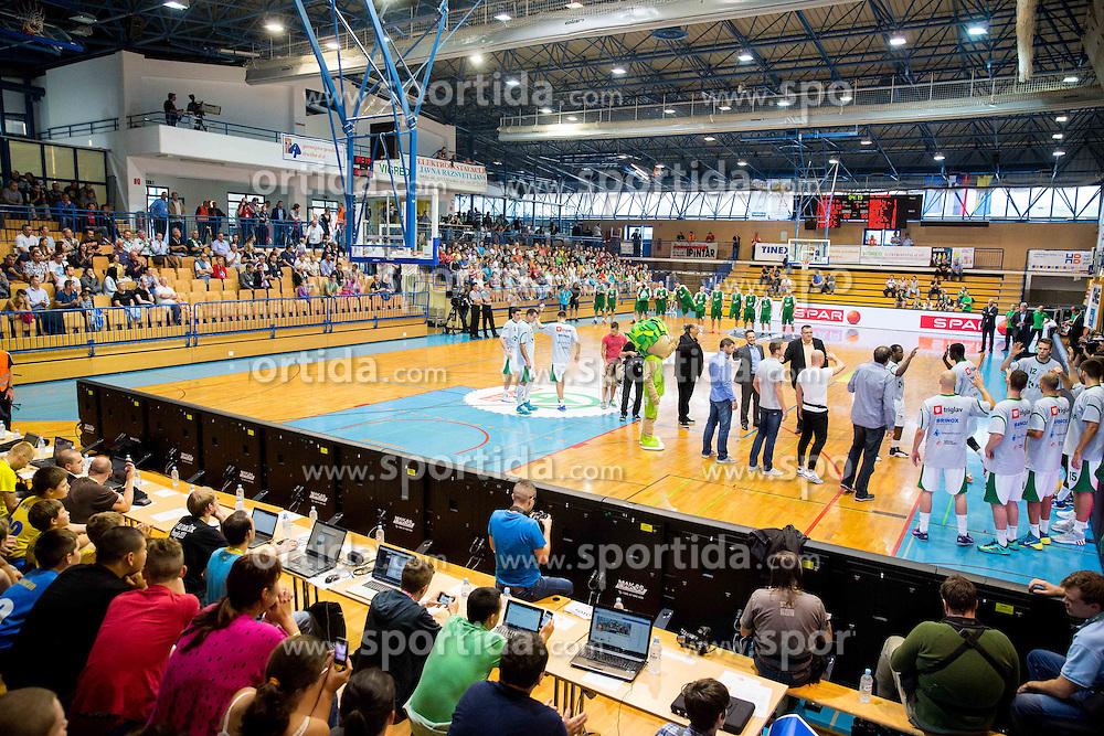 Arena during basketball match between KK Krka Novo mesto and KK Union Olimpija Ljubljana at Superpokal 2014, on September 30, 2014 in Sencur Sports hall, Slovenia. Photo by Vid Ponikvar / Sportida.com