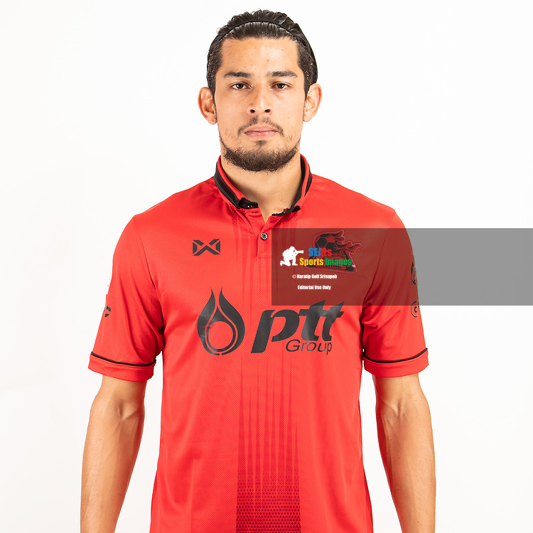 THAILAND - JUNE 09: Ariel Rodriguez Araya #7 of PTT Rayong FC on June 09, 2019.<br /> .<br /> .<br /> .<br /> (Photo by: Naratip Golf Srisupab/SEALs Sports Images/MB Media Solutions)