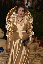 May 7, 2018 - New York City, New York, U.S. - Actress LENA DUNHAM attends the Costume Institute Benefit celebrating the opening of Heavenly Bodies: Fashion and the Catholic Imagination exhibit held at at The Metropolitan Museum of Art. (Credit Image: © Nancy Kaszerman via ZUMA Wire)
