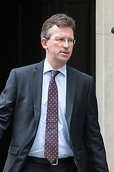 Downing Street, London, September 9th 2016.  Attorney General Jeremy Wright leaves 10 Downing Street following the weekly cabinet meeting.