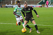 Forest Green Rovers Joseph Mills(23) on the ball during the EFL Sky Bet League 2 match between Yeovil Town and Forest Green Rovers at Huish Park, Yeovil, England on 8 December 2018.