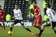 Derby County defender Marcus Olsson receives the ball during the Sky Bet Championship match between Derby County and Blackburn Rovers at the iPro Stadium, Derby, England on 24 February 2016. Photo by Aaron  Lupton.