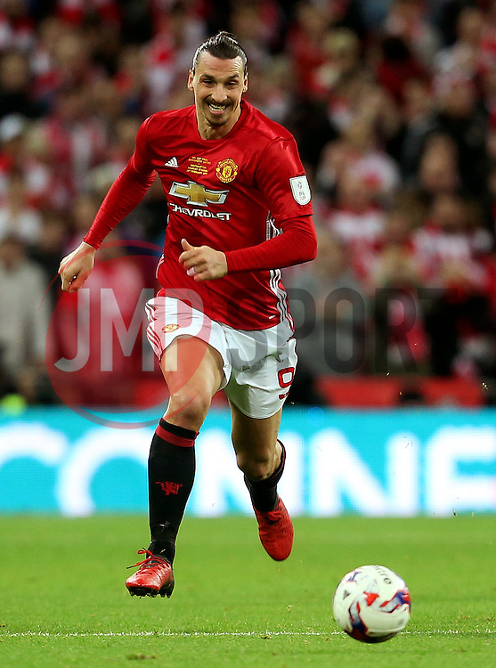 Zlatan Ibrahimovic of Manchester United  - Mandatory by-line: Matt McNulty/JMP - 26/02/2017 - FOOTBALL - Wembley Stadium - London, England - Manchester United v Southampton - EFL Cup Final