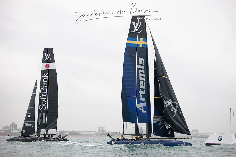 Practice Race ACWS Portsmouth. Artemis Racing. 24th of July, 2015, Portsmouth, UK