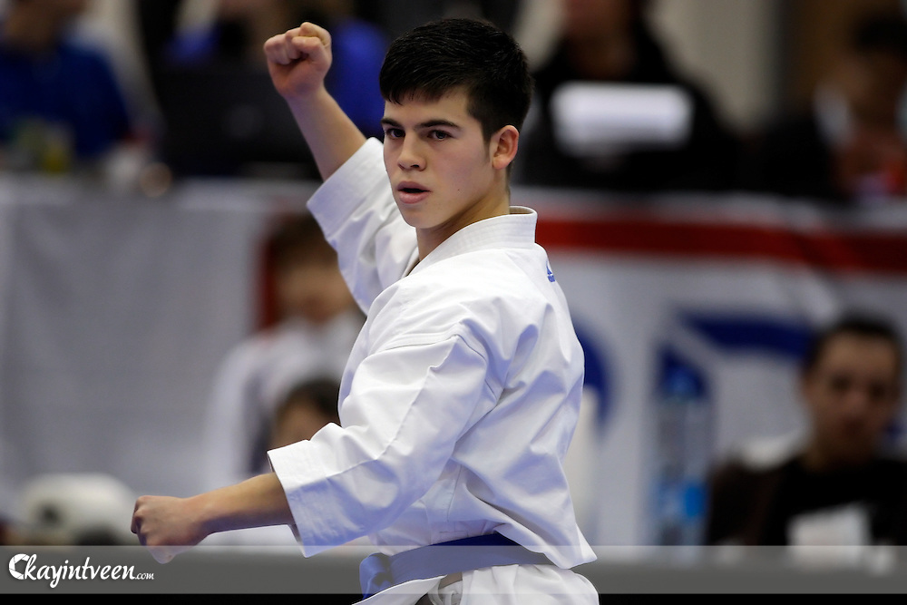 DORDRECHT - Karate, NK Karate 2012, Sport Boulevard, 05-02-2012, Wedstrijd KATA, Fabrice de Boer