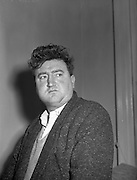 25/02/1957<br /> 02/25/1957<br /> 25 February 1957<br /> Brendan Behan, playwright and author at 15, Herbert Street, Dublin.