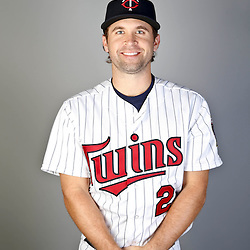 Feb 19, 2013; Fort Myers, FL, USA; Minnesota Twins shortstop Brian Dozier (2) poses for a portrait during photo day at Hammond Stadium. Mandatory Credit: Derick E. Hingle-USA TODAY Sports