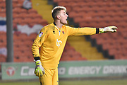 Blackpool Goalkeeper, Joe Lumley (28)  during the EFL Sky Bet League 1 match between Blackpool and Bristol Rovers at Bloomfield Road, Blackpool, England on 13 January 2018. Photo by Mark Pollitt.