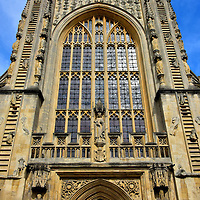 Front Facade of Bath Abbey in Bath, England<br />