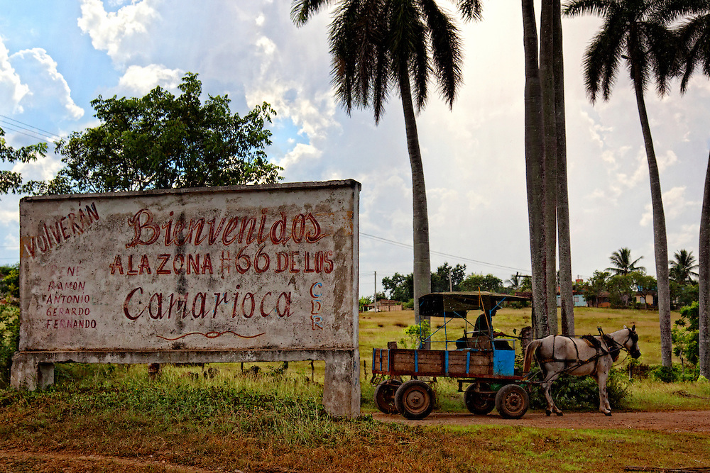 Horse and wagon in Camarioca, Matanzas, Cuba.