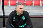 Port Vale manager John Askey before  the EFL Sky Bet League 2 match between Salford City and Port Vale at Moor Lane, Salford, United Kingdom on 17 August 2019.