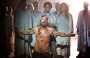 Jesus Christ Superstar <br /> by Tim Rice & Andrew Lloyd Webber <br /> at The Regent's Park Open Air Theatre, London, Great Britain <br /> press photocall<br /> 19th July 2016 <br /> <br /> Declan Bennett as Jesus <br /> <br /> <br /> Photograph by Elliott Franks <br /> Image licensed to Elliott Franks Photography Services