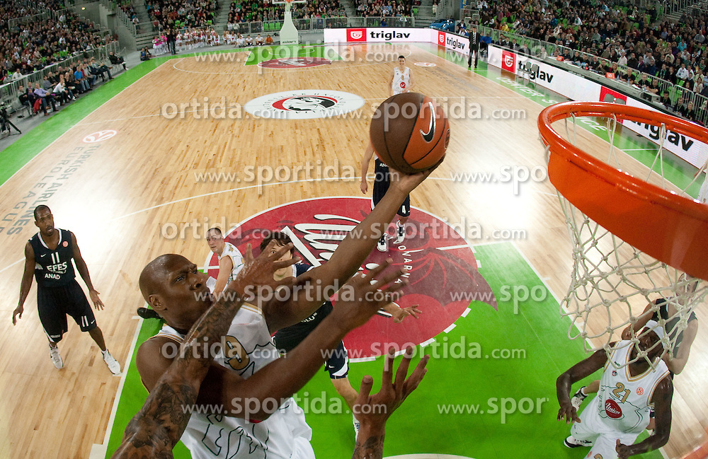 Kenny Gregory of Olimpija  during basketball match between KK Union Olimpija (SLO) and Efes Pilsen (Tur) in Group D of Turkish Airlines Euroleague, on October 20, 2010 in SRC Stozice, Ljubljana, Slovenia. (Photo By Vid Ponikvar / Sportida.com)