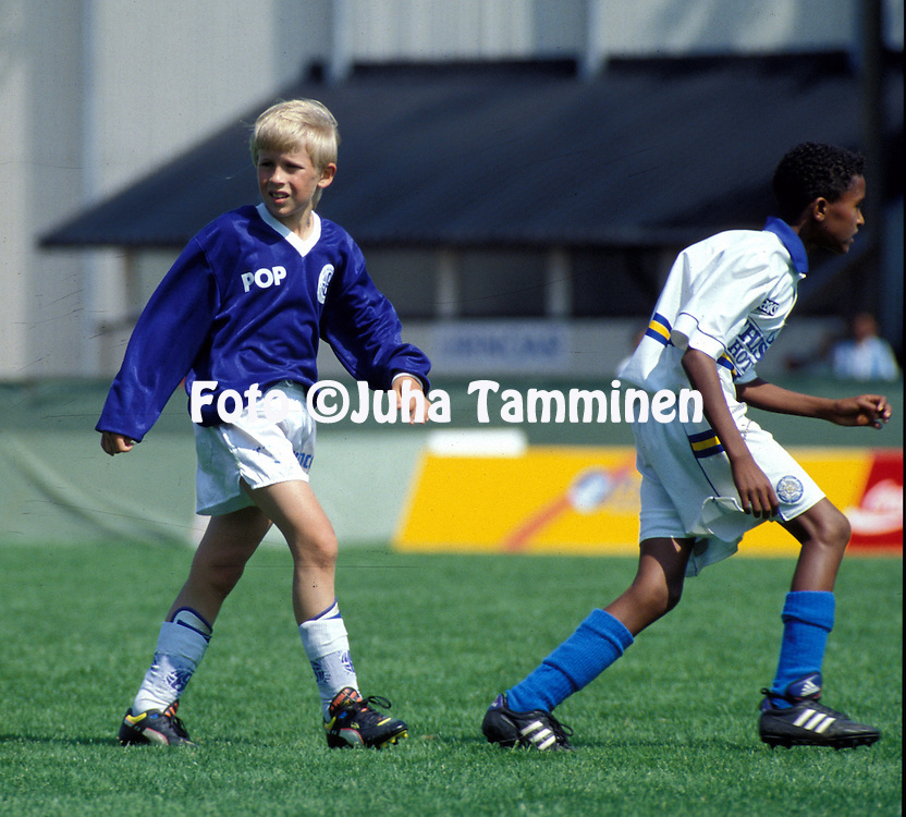 22.07.1995, Gamla Ullevi, G?teborg, Sweden..Gothia Cup 1995.Class E-11 Final, FC Kuusysi v Eritrea..Konsta Hietanen in action..©Juha Tamminen