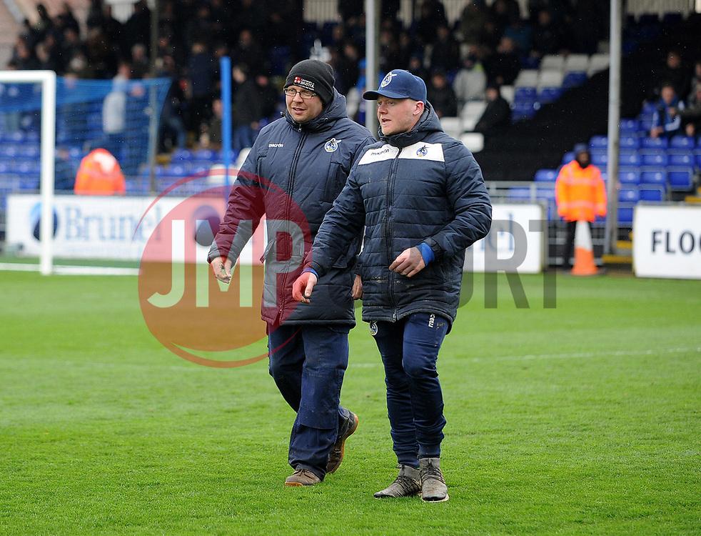 Ground staff - Mandatory by-line: Neil Brookman/JMP - 30/03/2018 - FOOTBALL - Memorial Stadium - Bristol, England - Bristol Rovers v Bury - Sky Bet League One