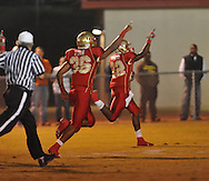 Lafayette High's DeBrico Burgess (22) returns a fumble for a touchdown vs. Pontotoc in Oxford, Miss. on Friday, September 23, 2011. Lafayette won 48-7 for the school's 22nd consecutive win.