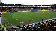 general view of the game from the stand  during the Barclays Premier League match at the KC Stadium, Kingston upon Hull<br /> Picture by Richard Gould/Focus Images Ltd +44 7855 403186<br /> 15/03/2014