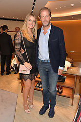 LADY KITTY SPENCER and NICCOLO BARATTIERI DI SAN PIETRO at a dinner hosted by Tod's to celebrate the refurbishment of their store 2-5 Old Bond Street, London on 15th September 2016.