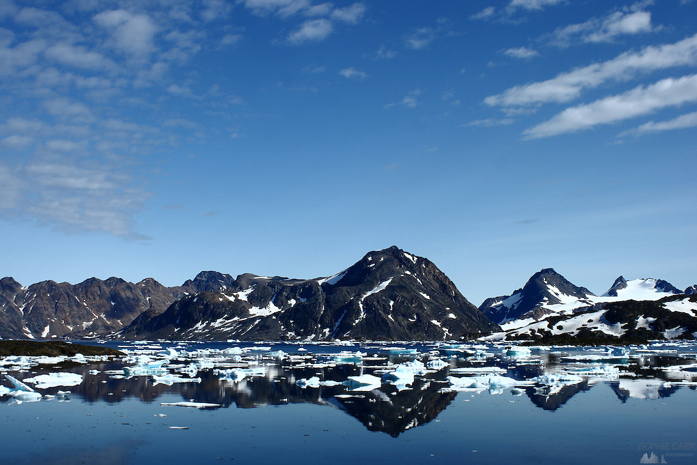 Reflections in Kulusuk, South-eastern Greenland