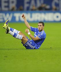 Chelsea's Eden Hazard complains to the referee - Photo mandatory by-line: Joe Meredith/JMP - Tel: Mobile: 07966 386802 22/10/2013 - SPORT - FOOTBALL - Veltins-Arena - Gelsenkirchen - FC Schalke 04 v Chelsea - CHAMPIONS LEAGUE - GROUP E
