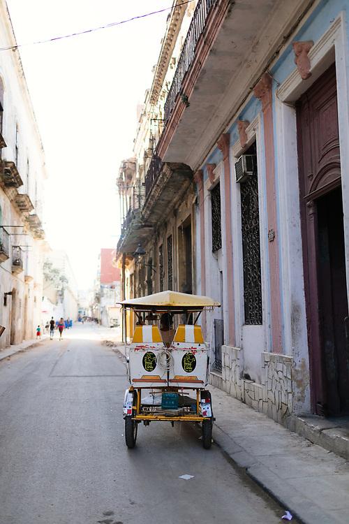 Pedicab in Old Havana in Havana Cuba