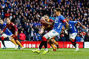 No mistakes from the retake, James Tavernier of Rangers dispatches the penalty to give Rangers the lead during the Ladbrokes Scottish Premiership match between Rangers and Motherwell at Ibrox, Glasgow, Scotland on Sunday 11th November 2018.