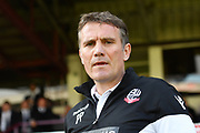 Bolton Wanderers manager Phil Parkinson during the EFL Sky Bet League 1 match between Scunthorpe United and Bolton Wanderers at Glanford Park, Scunthorpe, England on 8 April 2017. Photo by Ian Lyall.
