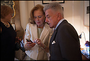 EVA DUGDALE-PENO; NICKY HASLAM, Nicky Haslam hosts a party to launch a book by  Maureen Footer 'George Stacey and the Creation of American Chic' . With a foreword by Mario Buatta. Kensington. London. 11 June 2014