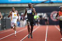 LaShawn Merritt runs in the 400m final during day 3 of the U.S. Olympic Trials for Track & Field at Hayward Field in Eugene, Oregon, USA 24 Jun 2012..(Jed Jacobsohn/for The New York Times)....