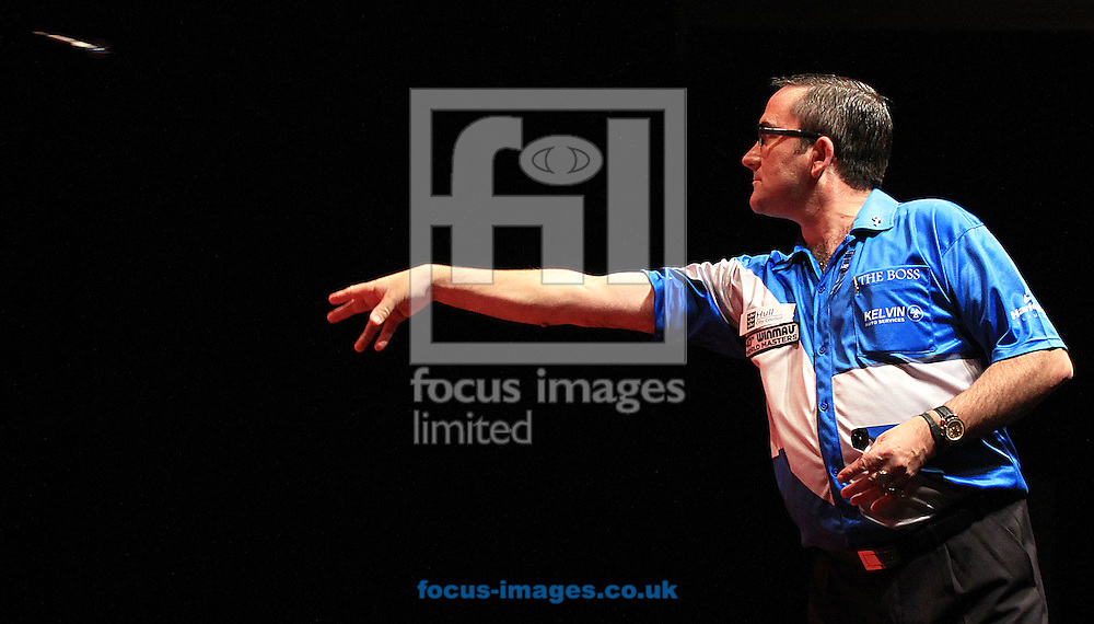 Picture by Richard Gould/Focus Images Ltd +44 7855 403186<br /> 12/10/2013<br /> Ross Montgomery pictured during day three of the BDO Winmau World Masters Darts Championship at Hull City Hall, Hull.