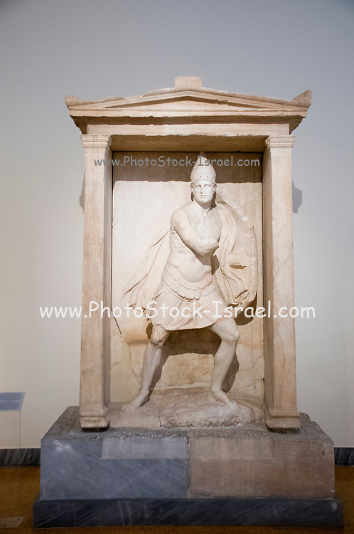 Greece, Athens, National Archaeology Museum Marble Funerary statue 350BCE