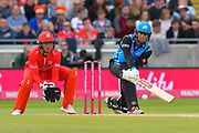 Ed Barnard of Worcestershire plays a reverse sweep during the Vitality T20 Finals Day Semi Final 2018 match between Worcestershire Rapids and Lancashire Lightning at Edgbaston, Birmingham, United Kingdom on 15 September 2018.