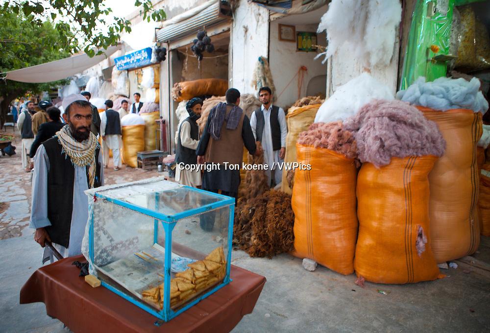 cotton-shop in herat, Afghanistan