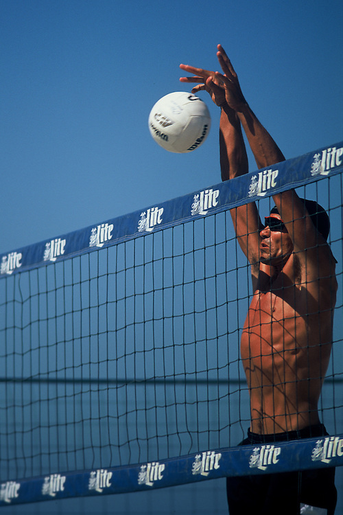 AVP Professional Beach Volleyball - San Diego, CA - 1998 - Brent Frohoff -  Photo by Wally Nell/Volleyball Magazine